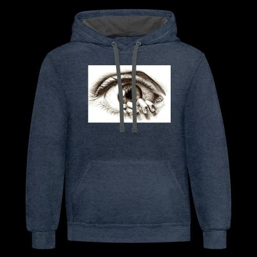 eye breaker - Contrast Hoodie