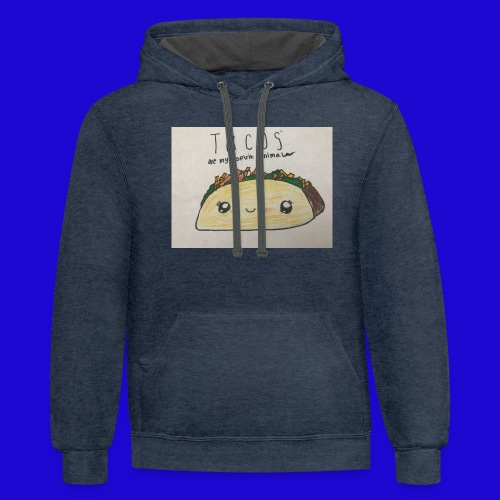 Tacos are my Spirit Animal - Contrast Hoodie