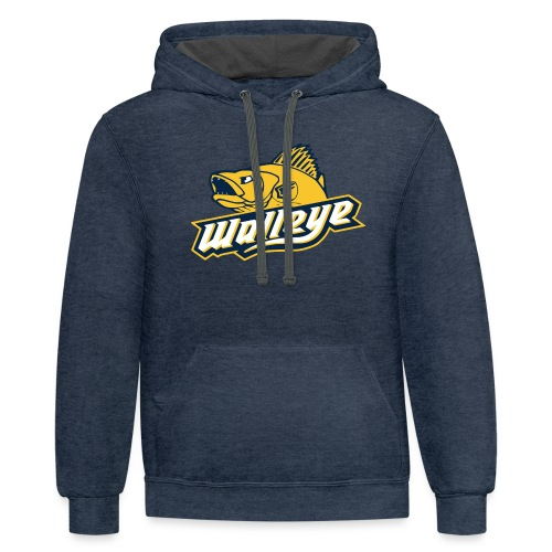 Walleye HC LOGO - Unisex Contrast Hoodie