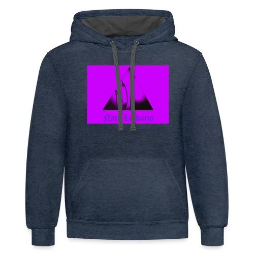 Purple Logo 2 - Unisex Contrast Hoodie
