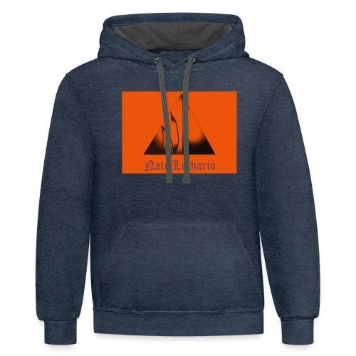 Orange Logo 2 - Unisex Contrast Hoodie