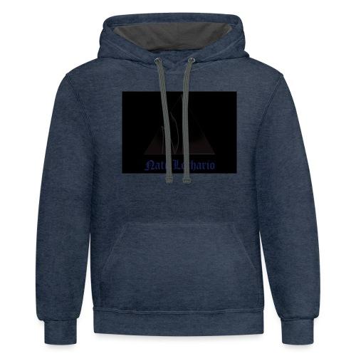 Black Logo - Unisex Contrast Hoodie
