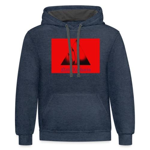 Red Logo 3 - Unisex Contrast Hoodie