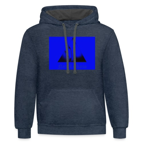 Blue Logo - Unisex Contrast Hoodie