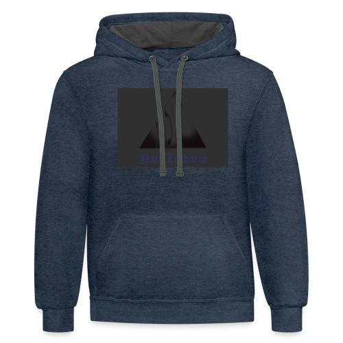 Dark Grey Logo - Unisex Contrast Hoodie