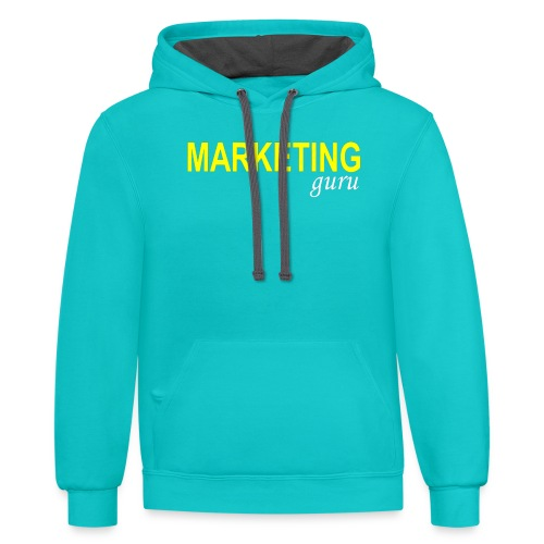 Marketing Guru - Contrast Hoodie