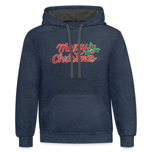 Merry Christmas, best wishes, season's greetings! - Contrast Hoodie