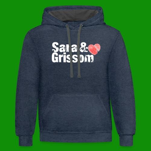 SARA & GRISSOM - Unisex Contrast Hoodie