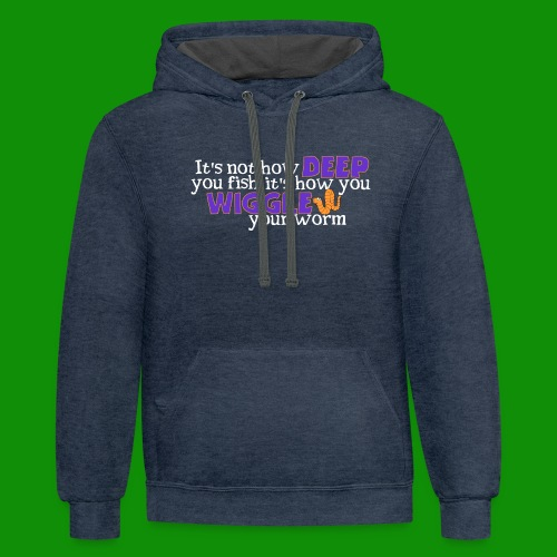 Wiggle your worm - Unisex Contrast Hoodie