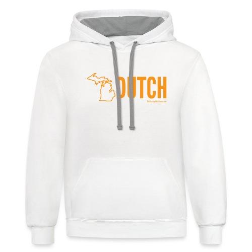 Michigan Dutch (orange) - Contrast Hoodie