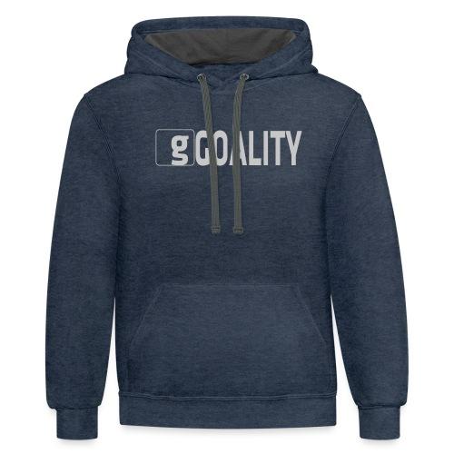 Goality Logo Grey - Contrast Hoodie
