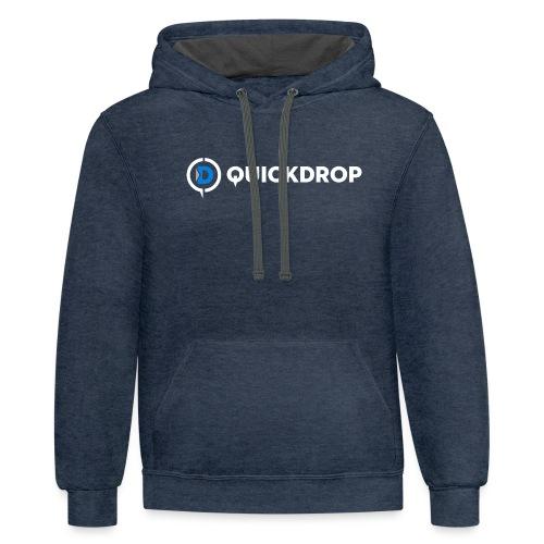 QD logo all white - Unisex Contrast Hoodie
