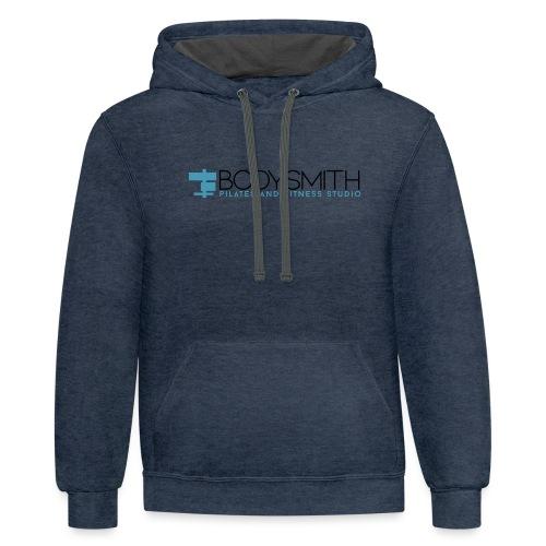 Bodysmith logo for tshirts Medium - Unisex Contrast Hoodie