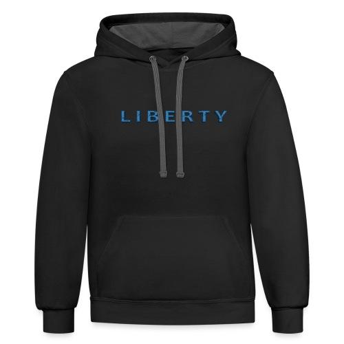 Liberty Libertarian Design - Contrast Hoodie