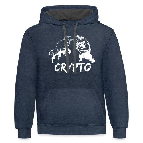CryptoBattle White - Contrast Hoodie