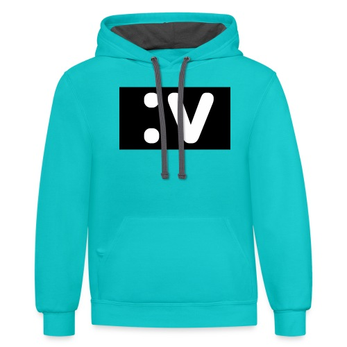 LBV side face Merch - Contrast Hoodie
