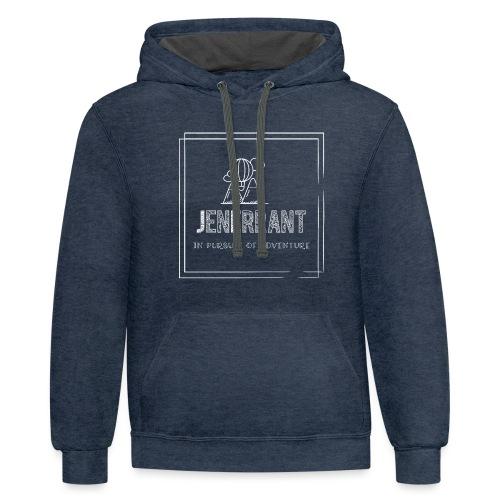White JenErrant Logo-No Background! - Contrast Hoodie