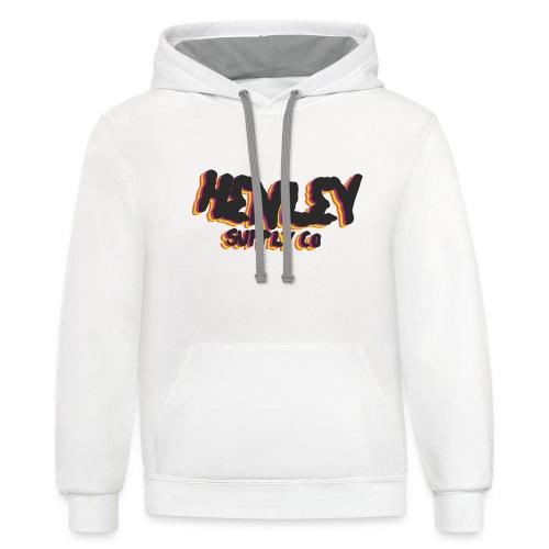 Henley Retro T-Shirt - Contrast Hoodie