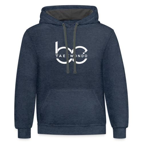 Logo emblem WHITE no bg - Contrast Hoodie
