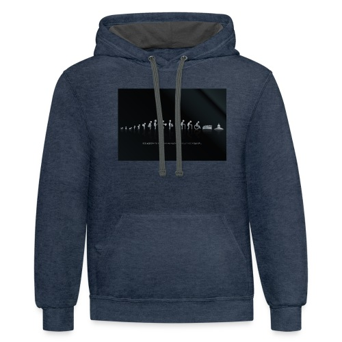 DIFFERENT STAGES OF HUMAN - Contrast Hoodie