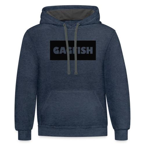 GAGFISH BLACK LOGO - Contrast Hoodie