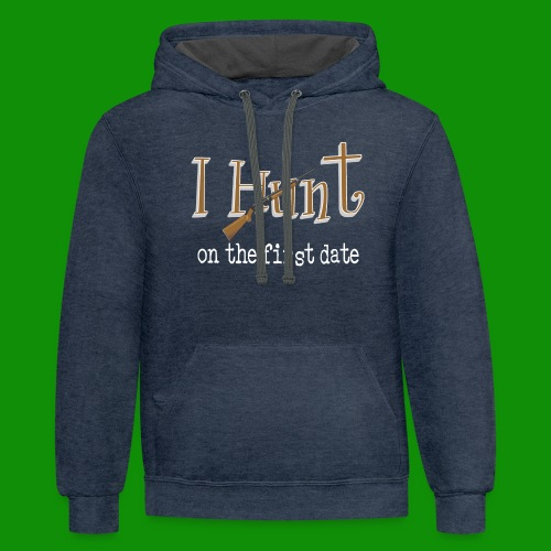 First Date Hunt - Unisex Contrast Hoodie