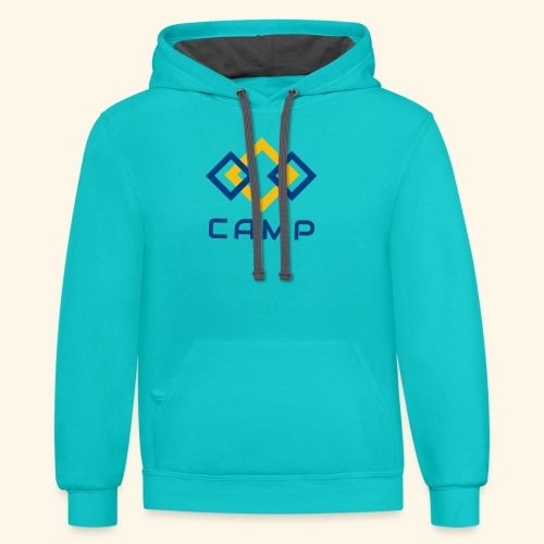 CAMP LOGO and products - Unisex Contrast Hoodie