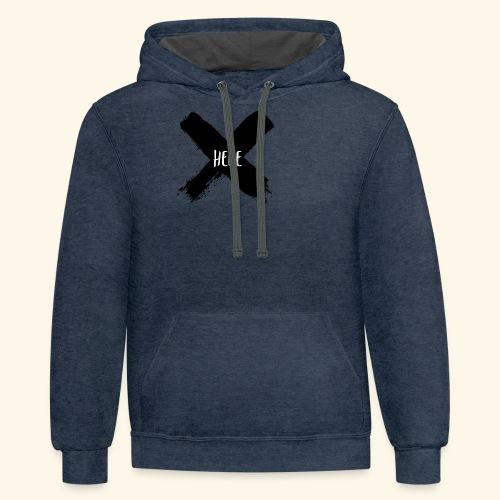 Black X - Contrast Hoodie
