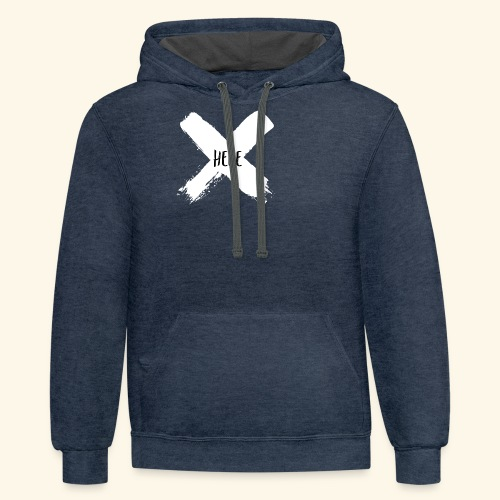 White X - Contrast Hoodie