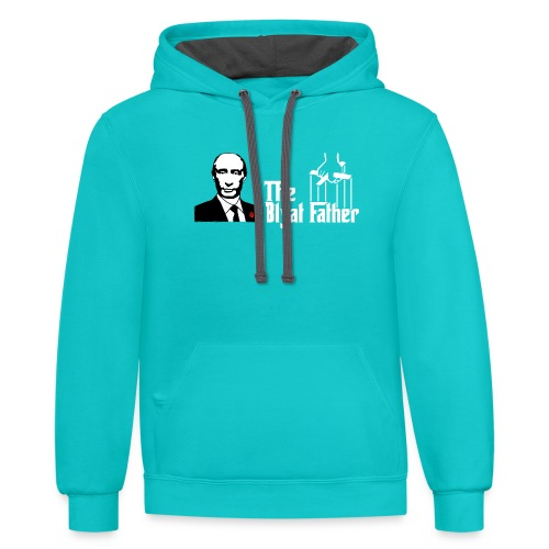 The Blyat Father - Contrast Hoodie