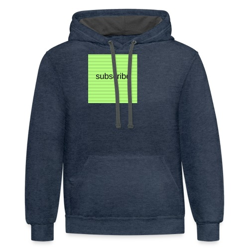 subscribe - Contrast Hoodie