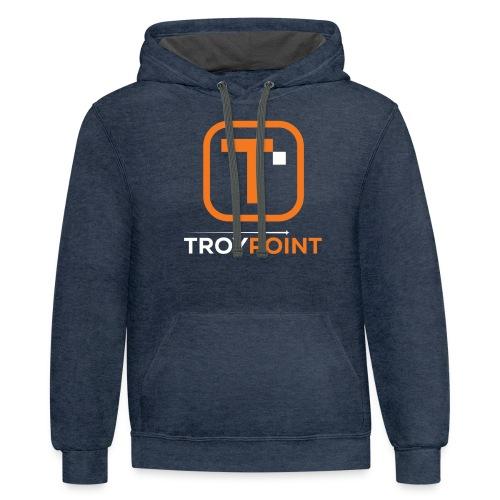 TROYPOINT Orange Logo - Contrast Hoodie