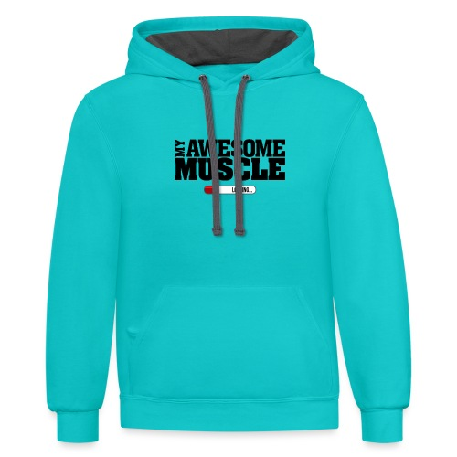 My Awesome Muscle - Dark Design - Contrast Hoodie