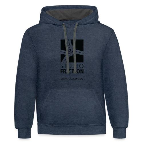 Studio Friction Black - Contrast Hoodie