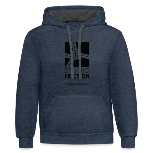 Studio Friction Black - Unisex Contrast Hoodie