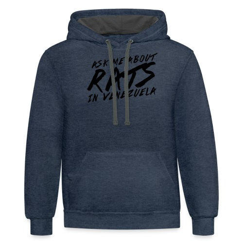 ask me about rats - Contrast Hoodie