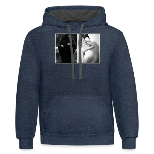 me and sidious - Contrast Hoodie