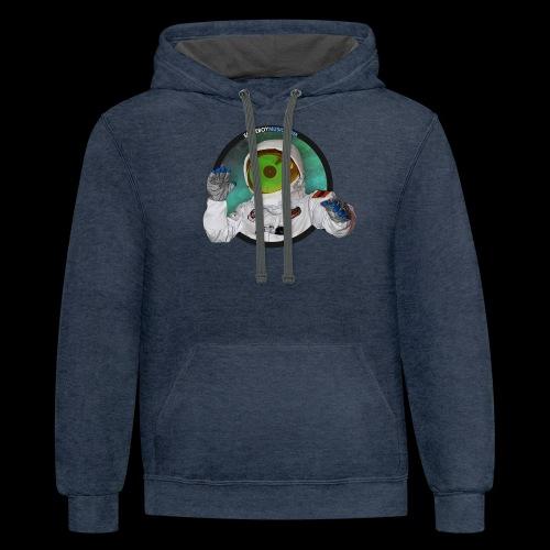 Spaceboy Music Logo - Contrast Hoodie