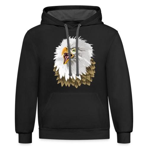 Big, Bold Eagle - Contrast Hoodie