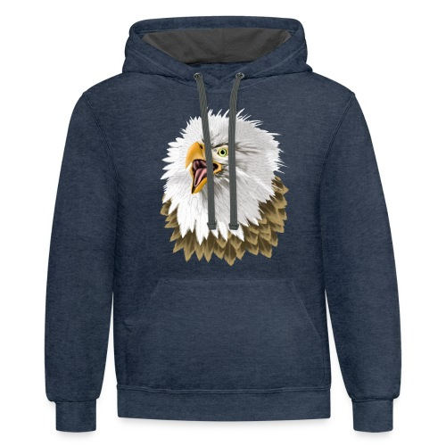 Big, Bold Eagle - Unisex Contrast Hoodie