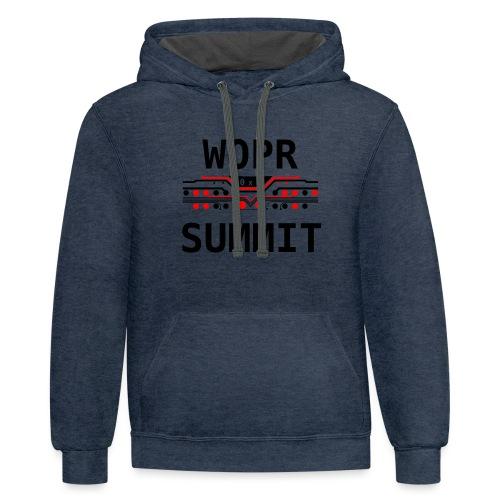 WOPR Summit 0x0 RB - Unisex Contrast Hoodie