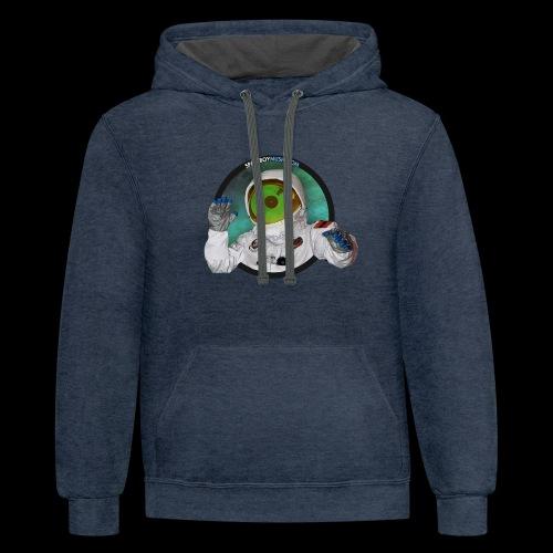 Spaceboy Music Logo - Unisex Contrast Hoodie