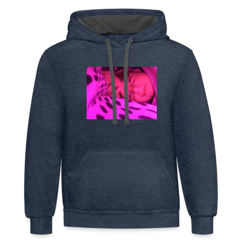 Purple under my bed - Contrast Hoodie