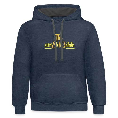 The Sunshine State - Unisex Contrast Hoodie