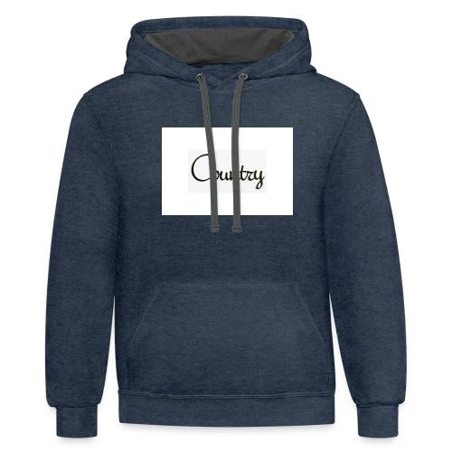 country vouce hoodie - Unisex Contrast Hoodie