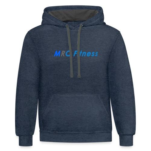 MRC Fitness Logo - Unisex Contrast Hoodie