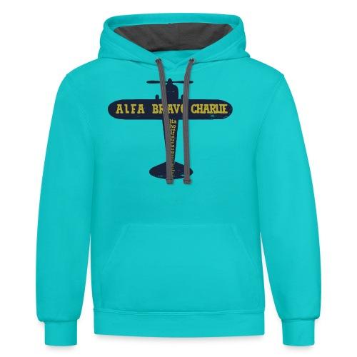 International Phonetic Alphabet Airplane - Contrast Hoodie
