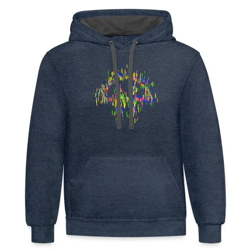 Stylized TWiT logo as rectangles - Unisex Contrast Hoodie