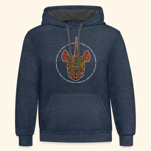 Dust Rhinos Orange Knotwork - Unisex Contrast Hoodie