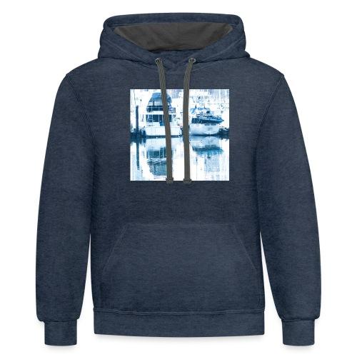 December boats - Unisex Contrast Hoodie